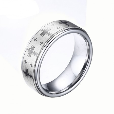 Tungsten Domineering Single Tail Ring