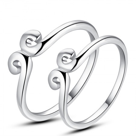 925 Silver Straitjacket Couple Rings