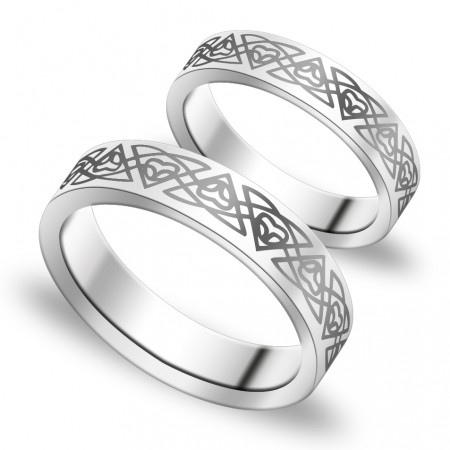 Korean Version Of The Simple And Stylish Couple Rings