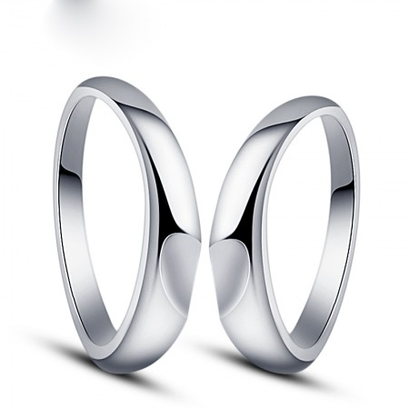 Creative Heart-Shaped 925 Silver Couple Rings