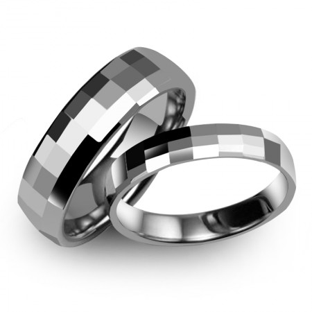 """Forever Love"" Tungsten Couple Rings"