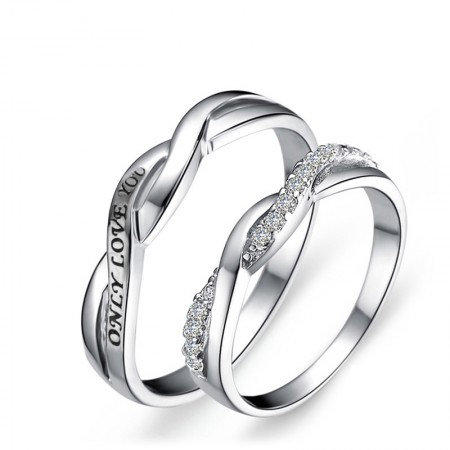 """""""Only Love You""""Simple Creative Couple Rings"""