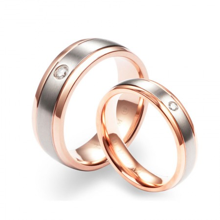 Fashion Europe Rose Gold Couple Rings