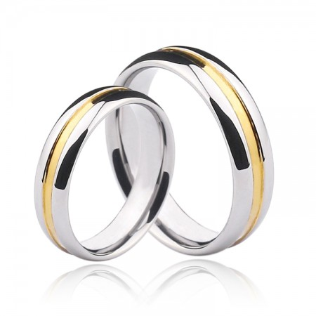 Simple And Stylish Tungsten Couple Rings