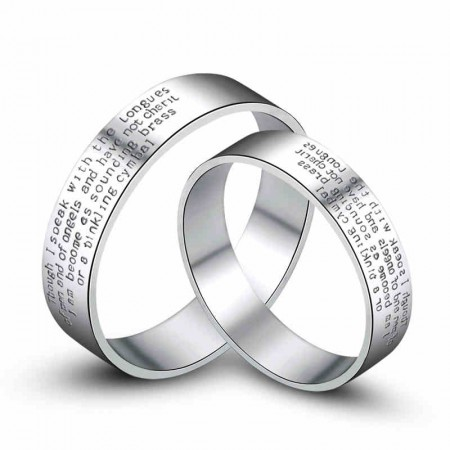 Angel Oath 925 Silver Couple Rings