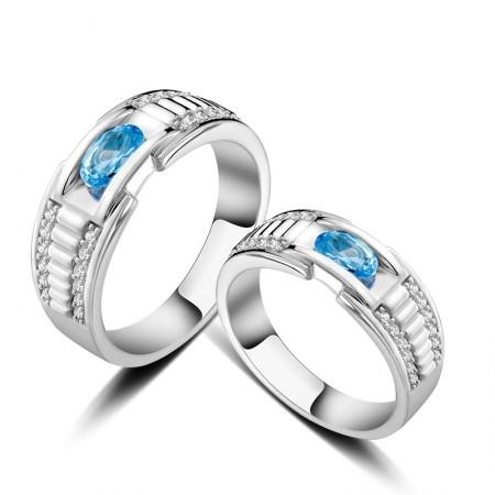 Korean Version Popular 925 Sterling Silver Couple Rings