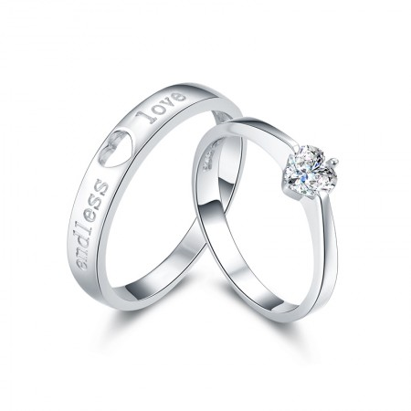 Korean Version Of The Stylish Simplicity S925 Silver Couple Rings