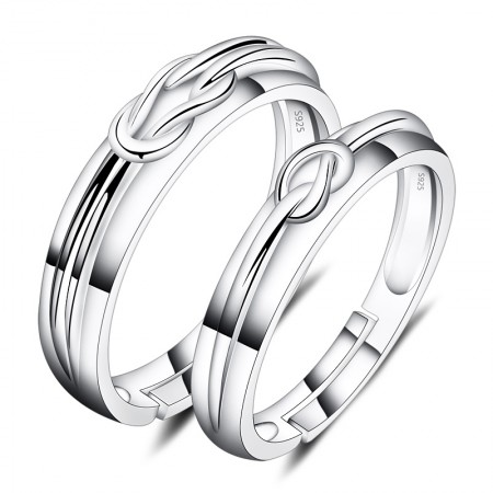 Creative Design Opening 925 Silver Couple Rings