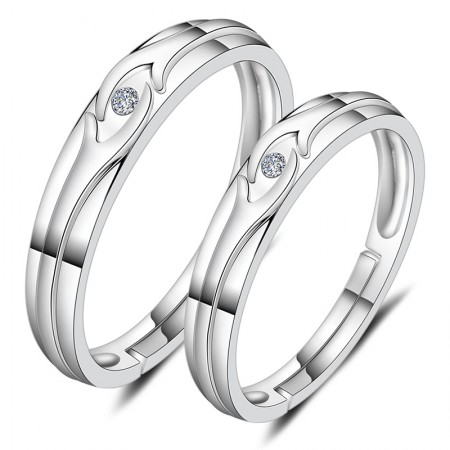 Hand In Hand Creative 925 Silver Couple Rings