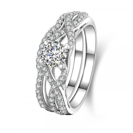 Europe Hot Jewelry 925 Sterling Silver Engagement Ring