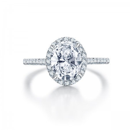 Europe Hot Sell 925 Sterling Silver With Oval Cz Engagement Ring