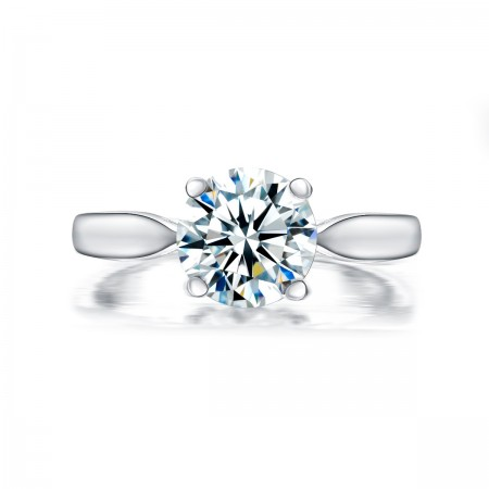 Luxury Classic 2Ct 925 Silver Engagement Ring