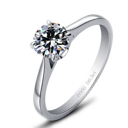 Classic Four Claw Set With Round Cut Cz 925 Sterling Silver Engagement Ring