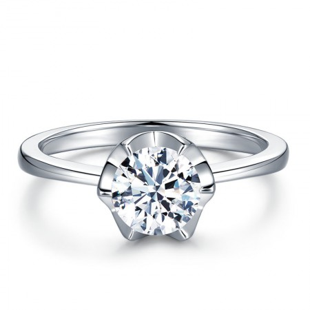 Europe Simple Fashion S925 Sterling Silver Engagement Ring