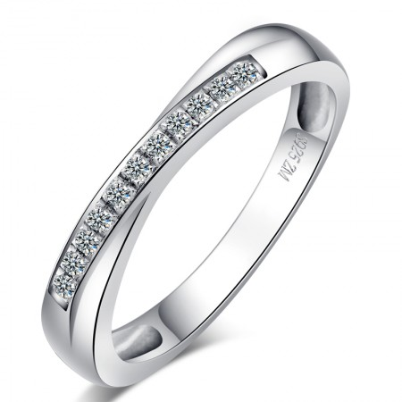 Korean Version Of The Creative 925 Sterling Silver Inlaid Cz Engagement Ring
