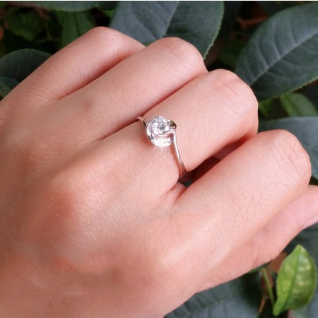 Exclusive Flower Design Simulation 1ct Diamond Engagement Ring Engagement Ring