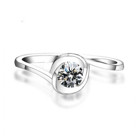 Exclusive Flower Design Simulation 1Ct Diamond Engagement Ring