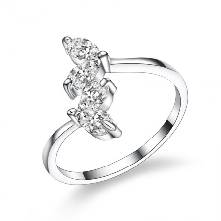 Fashion Personality 925 Sterling Silver Engagement/Wedding Ring