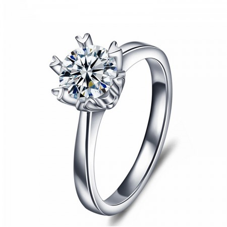 Romantic Aesthetic Creative Snowflake Modeling 925 Sterling Silver Engagement Ring