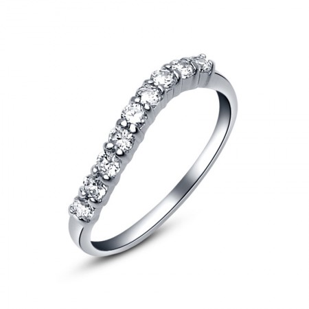 Original Exquisite 925 Sterling Silver Inlaid Cz Engagement Ring