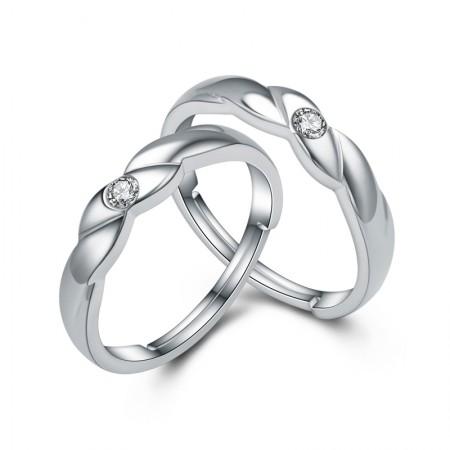 Korean Fashion Love Gift S925 Silver Couple Rings