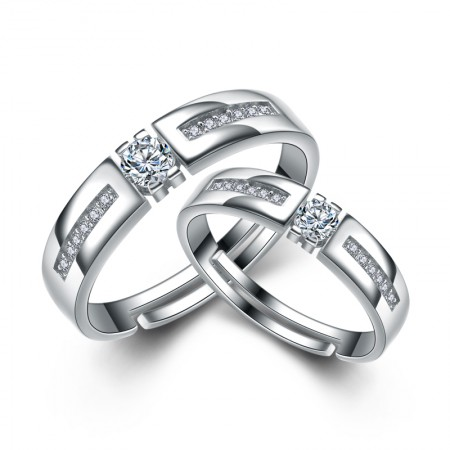 Korean Men And Women The Same Paragraph 925 Sterling Silver Couple Rings