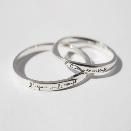 Love In Time And Space Original Design s925 Sterling Silver Lovers Couple Rings
