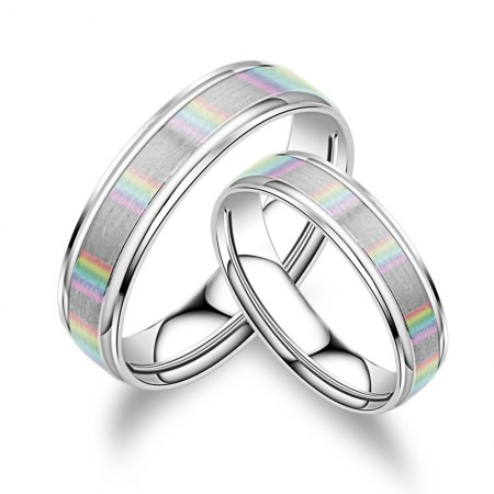 Creative Discoloration Jewelry S925 Silver Couple Rings