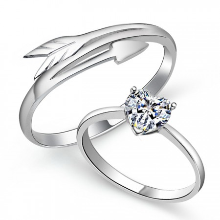 Love At First Sight 925 Silver Couple Rings