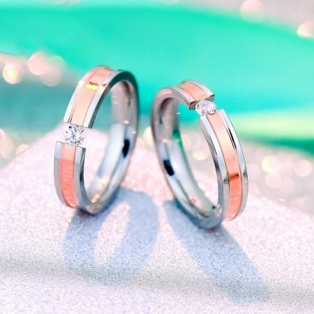 Korean Version Of The Single Cubic Zirconia Broadside Fashion Couple Rings