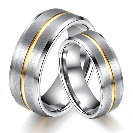 Men And Women The Same Paragraph Tungsten Gold Couple Rings
