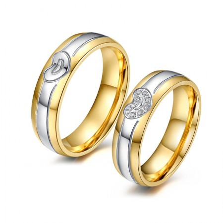 Korean Version Of The New Heart-Shaped Titanium Steel Couple Rings