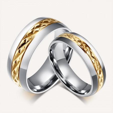 Korea Retro Titanium Steel Couple Rings