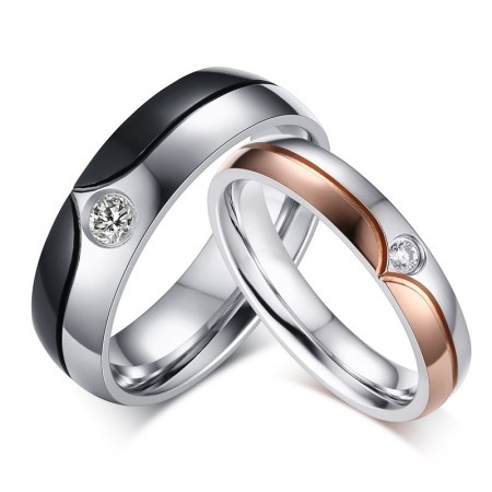 European And American Fashion Personality Stainless Steel Couple Ring