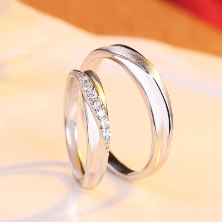 New Simplify Atmospheric S925 Silver Lovers Couple Rings
