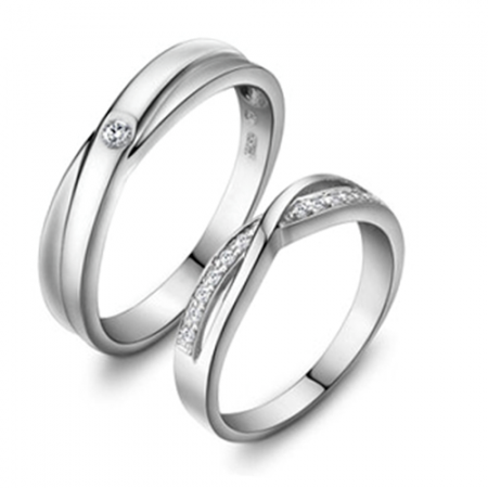 Elegant And Unique Hollow 925 Sterling Silver Couple Ring