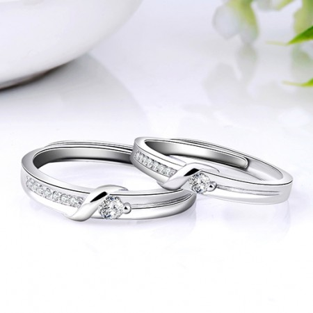 Couple Jewelry Warp Ring 925 Sterling silver Silver Accessories Beauty