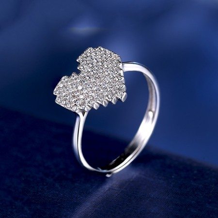 Creative Super Heart-Shaped 925 Sterling Silver Engagement Rings