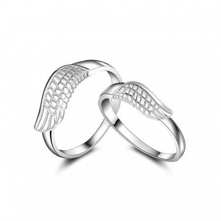 One Pair Of Angel Wings 925 Silver Couple Rings