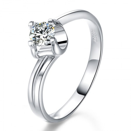 Korean Original 925 Sterling Silver Popular Four Claw Engagement Ring
