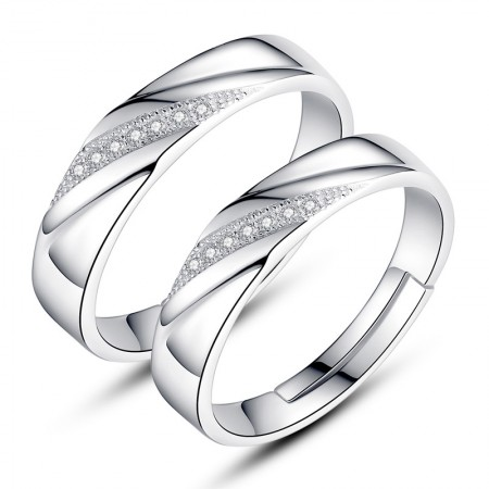 The Unique Design Of The New 925 Silver Couple Rings