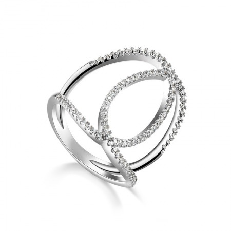 European Style Fashion Intertwined 925 Sterling Silver Women's Ring