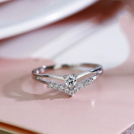 Fashion Sweet 925 Sterling Silver Creative Engagement Ring