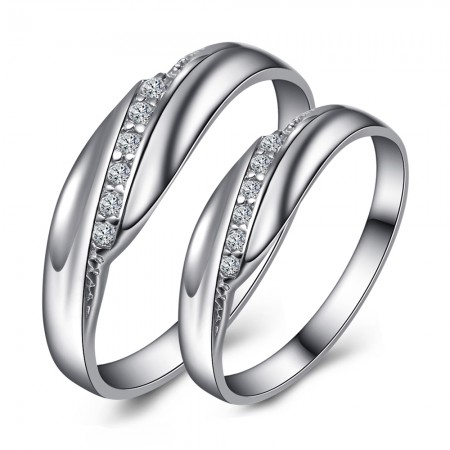 "Korean Fashion Personality ""LOVE YOU FOREVER"" 925 Silver Couple Rings"