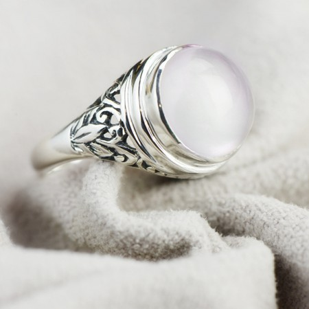Retro Atmosphere Round Perspective S925 Silver Ring