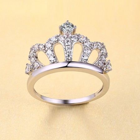 Luxury Quality Classic Crown S925 Silver With Cubic Zirconia Engagement Ring
