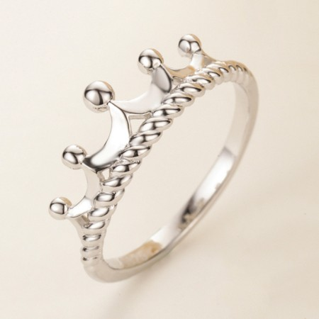 Elegant Weaving Crown 925 Silver Woman'S Engagement Ring