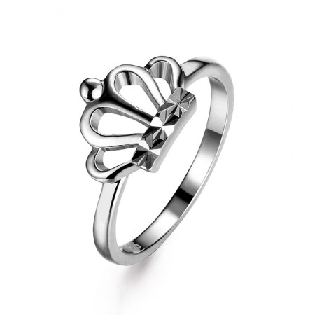 Korean Sweet And Creative 925 Sterling Silver Crown Engagement Ring