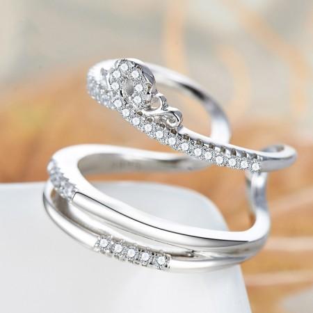 Original Design New Fashion 925 Silver Princess Crown Ring