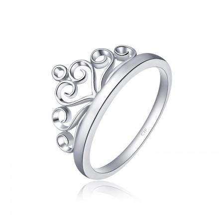 Enchanting Queen Shining 925 Silver Crown Ring
